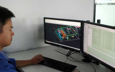 Man working with 3D Model