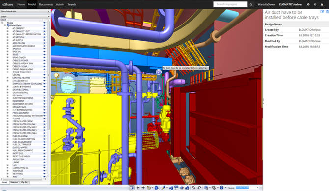 With smart points information and notes from installation teams could be stored in the 3D model