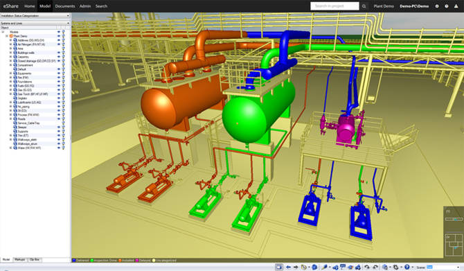 Change color scheme in the 3D model according to any attribute value, for example inspection status